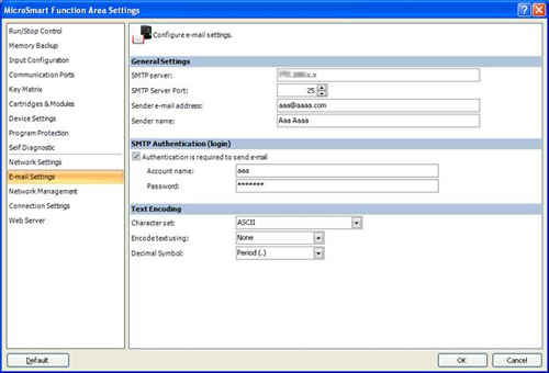 Configure E-Mail Settings