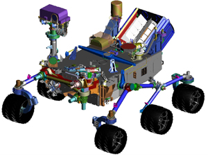 NASA's Curiosity Rover CAD Drawing