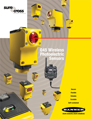 Banner's SureCross Q45 Wireless Sensors Brochure