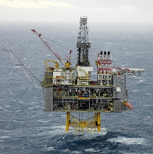 British Petroleum's Clair offshore platform