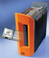 The APC810 industrial PC is based on the Intel Core Duo technology.
