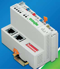 The 750-871 Ethernet TCP/IP twoport, programmable fieldbus controller can be integrated into existing Ethernet networks while minimizing the overall number of components.