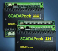 SCADAPack 330 and SCADAPack 334 controllers come in compact enclosures for mounting in tight spaces and are programmed with TelePACE ladder logic, ISaGRAF (IEC61131-3) and C/C++, and support up to 32 independent C++ applications.
