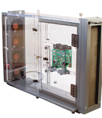 WT-2000 thermal wind tunnel, made of clear polycarbonate and PVC, measures air flow up to 1000 fpm.