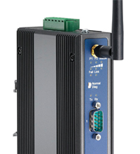 EKI-1351 (one-port) and EKI-1352 (two-port) 802.11b/g device servers allow most any RS232/422/485 serial device to be monitored remotely and managed and controlled wirelessly, eliminating the need for hardwired cable connections.