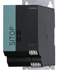 SITOP wall-mount 24 Vac/10 A power supply for applications under high shock and vibration conditions, meets IEC 68-2-27 Basic Environmental Testing Procedures, Part 2; International Standard IEC 60529 Ingress Protection Rating; and MIL-STD-810F, Method 514.5, Vibration.