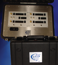 Gecko flow transfer standard uses the EZ-Link portable interface box and EZCal menu-driven software for online comparison calibrations with the unit under test.