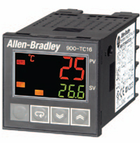Allen-Bradley Bulletin 900-TC 16 and 900-TC8 single-loop temperature/process controllers combine thermocouple and RTD sensing capability with either ON/OFF or analog outputs into a global temperature controller.