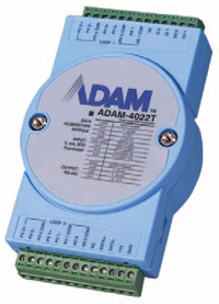 ADAM-4022T dual-loop, PID serialbased controller offers an accuracy of ±0.15% for controlling temperature and other process variables.