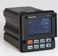 Model 555 ¼ DIN controller handles flow proportional control, residual control, compound loop control with tag times and dechlorination with sulfur dioxide.