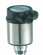 Type 8185 guided microwave level transmitter has a choice of either cable or rod probe of 316L stainless steel and performs continuous level measurement for liquids and solids.