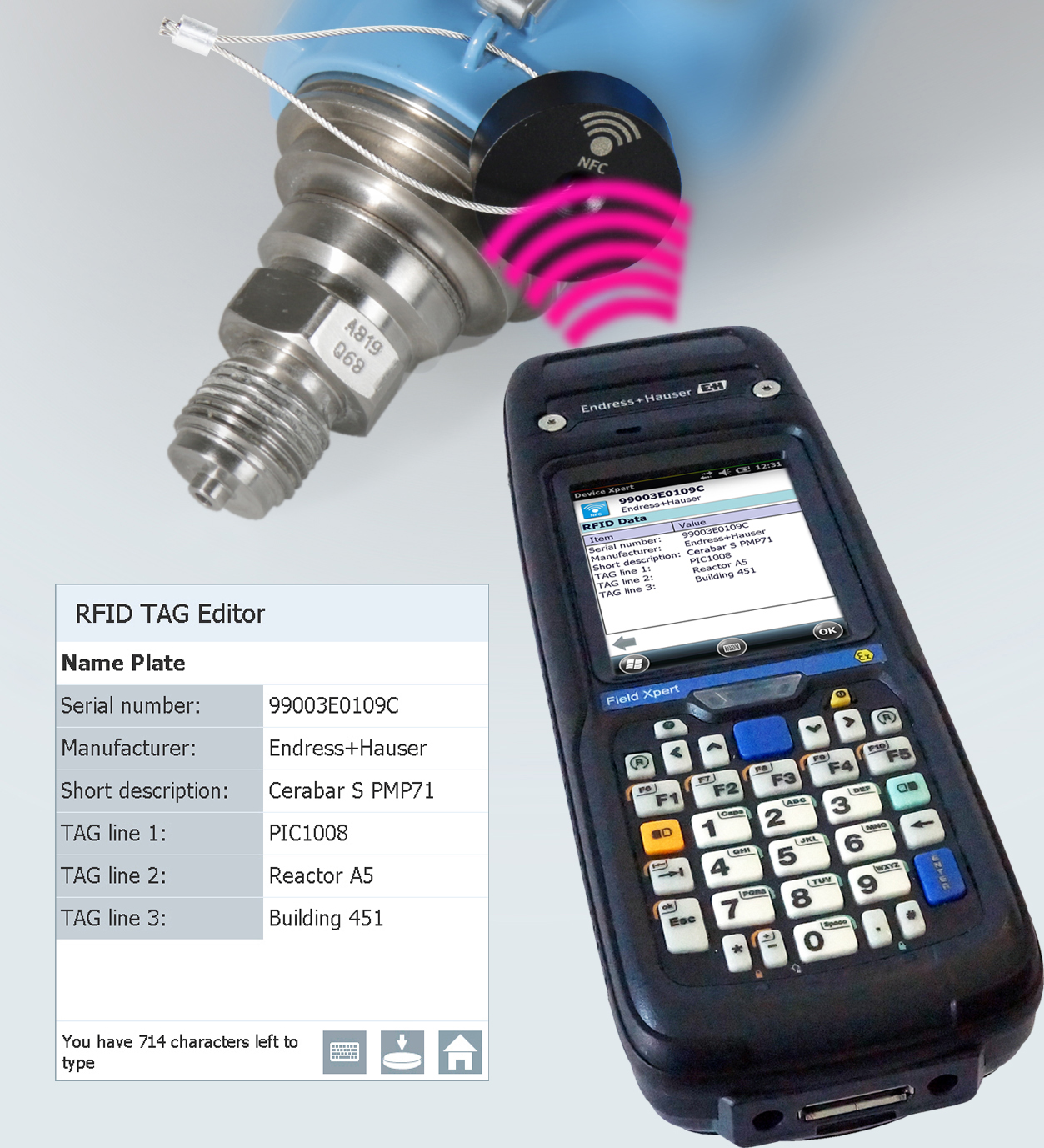 Endress+Hauser Field Xpert's RFID NFC Tag Editor speeds device