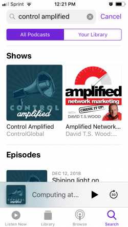 How to listen to Control Amplified on your smart phone