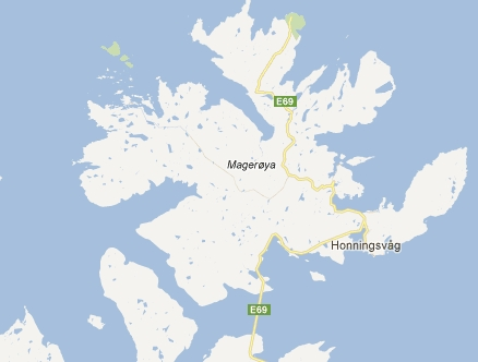 Honningsvag on the map
